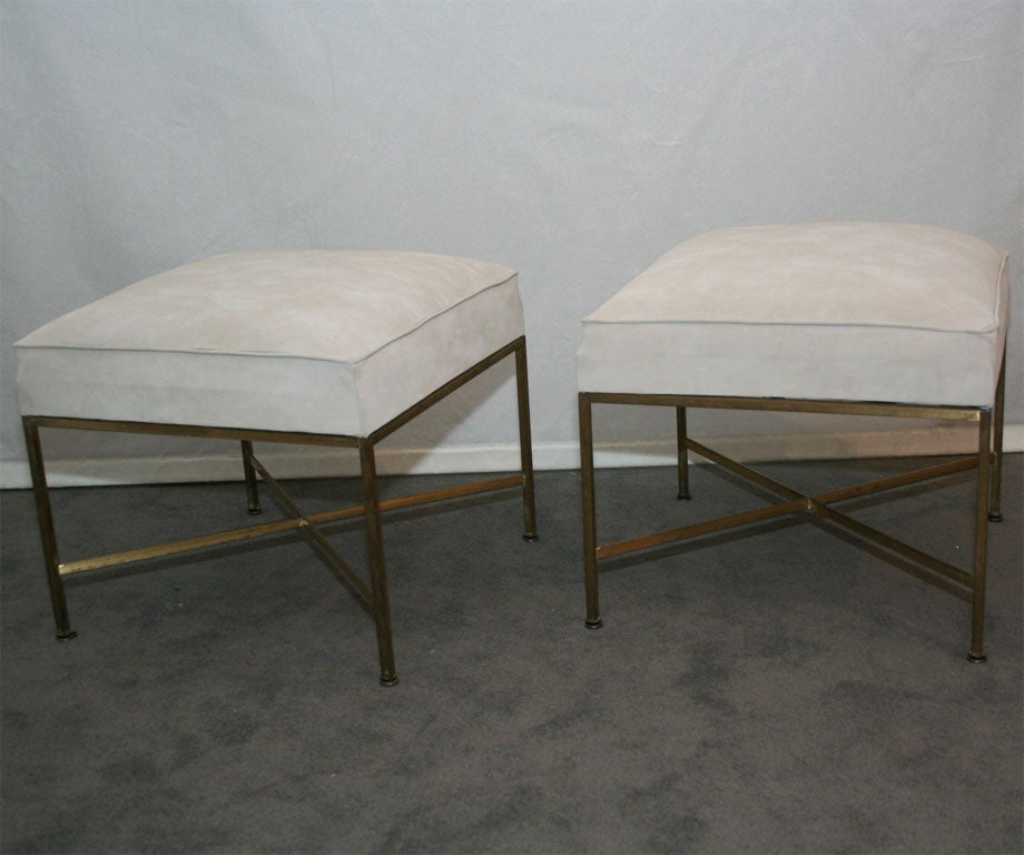 Pair of Paul McCobb for Calvin Ottomans 2