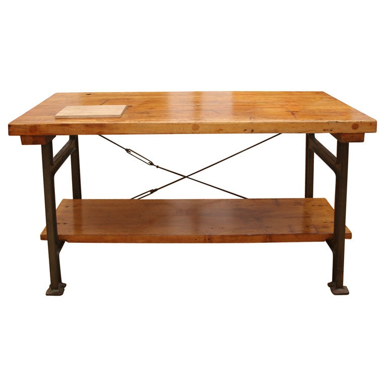 vintage industrial leg table