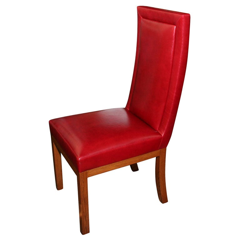 Custom made upholstered dining chair contemporary at 1stdibs for Modern upholstered dining room chairs