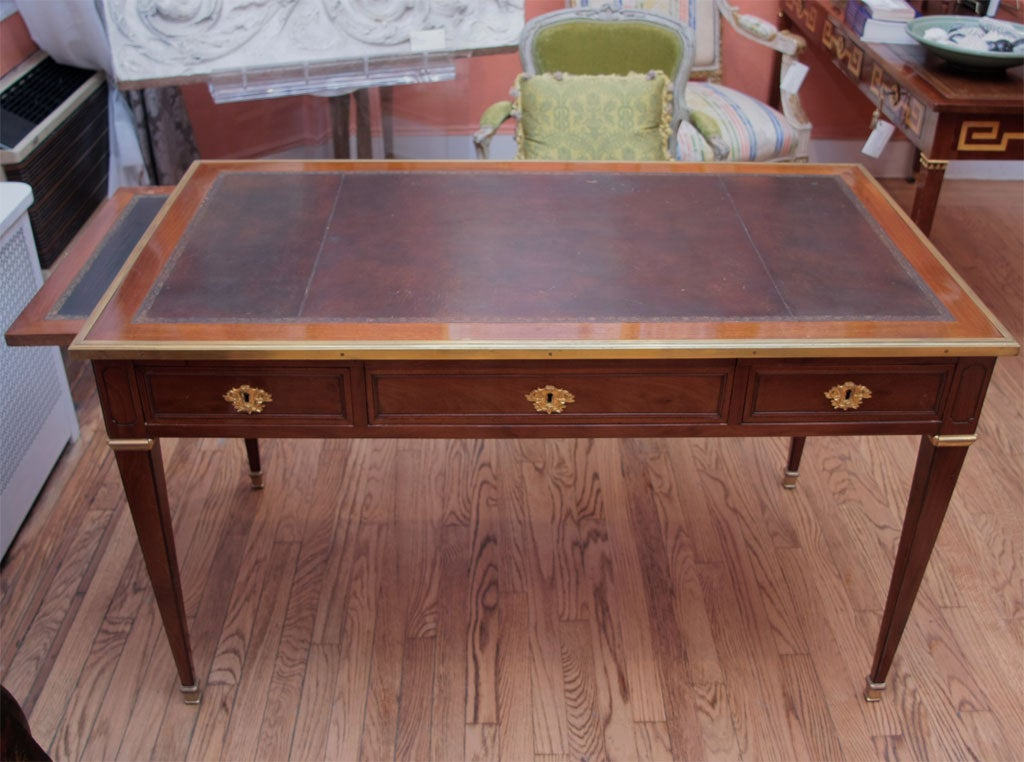 mahogany and oak writing table bureau plat by fidelys schey at 1stdibs. Black Bedroom Furniture Sets. Home Design Ideas