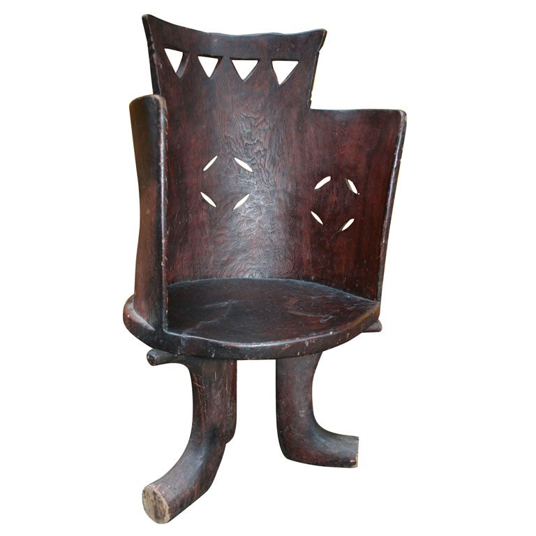 Handcarved Ethiopian Chief 39 S Chair At 1stdibs