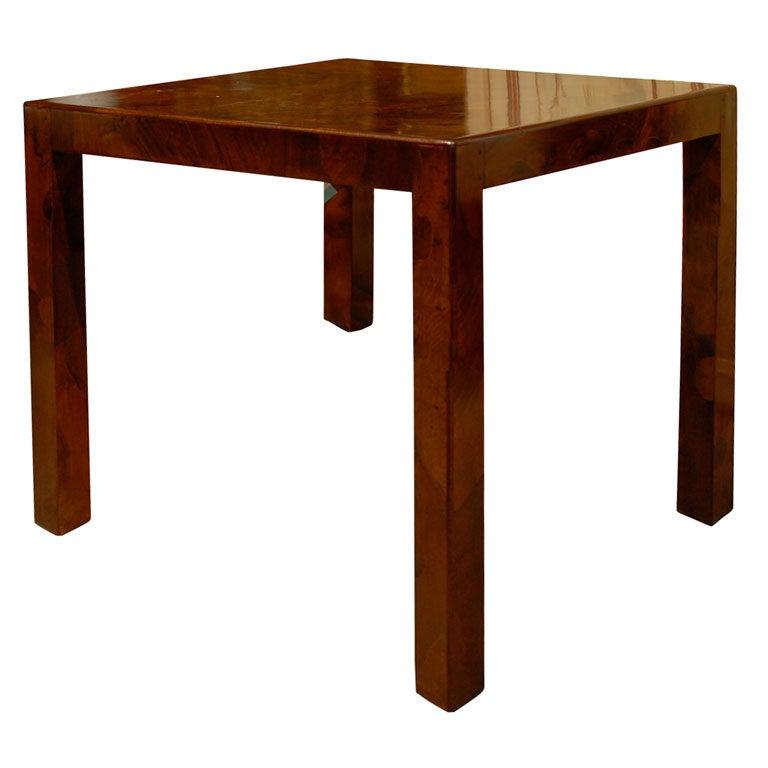 Mid Century Olive Wood Inlaid Table At 1stdibs