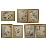 SET OF 7 HAND COLORED BIRD ENGRAVINGS