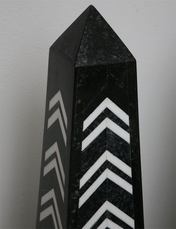 Late 20th Century Massive Pair of Marble Obelisks by Maitland Smith For Sale