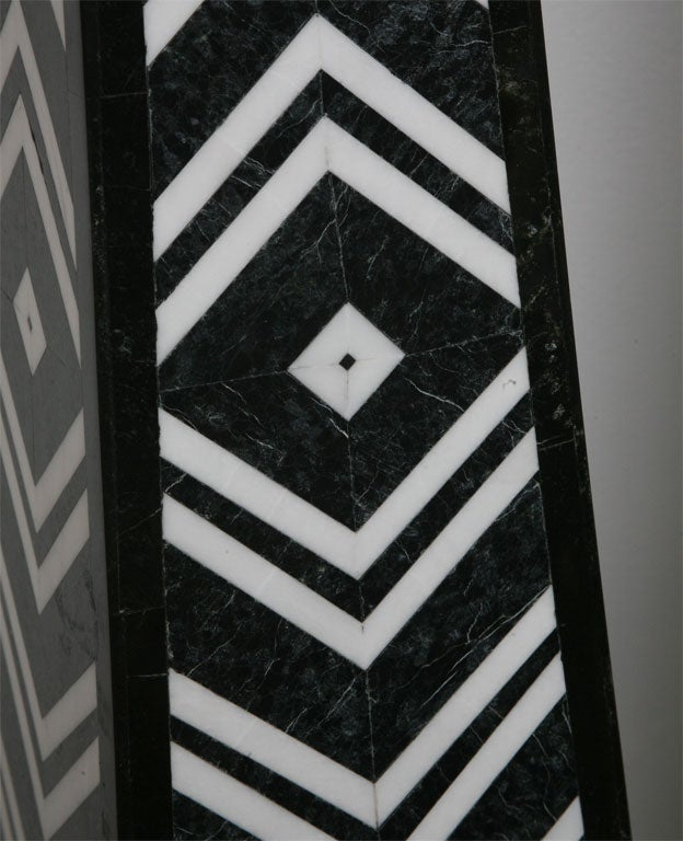 Massive Pair of Marble Obelisks by Maitland Smith For Sale 1