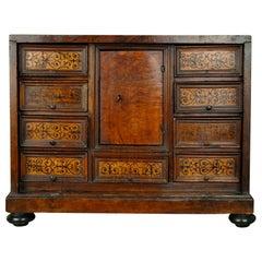 Italian Walnut Ebonized Table Cabinet