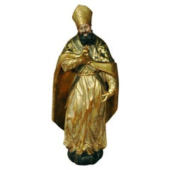 Gilded Venetian Statue of a Bishop