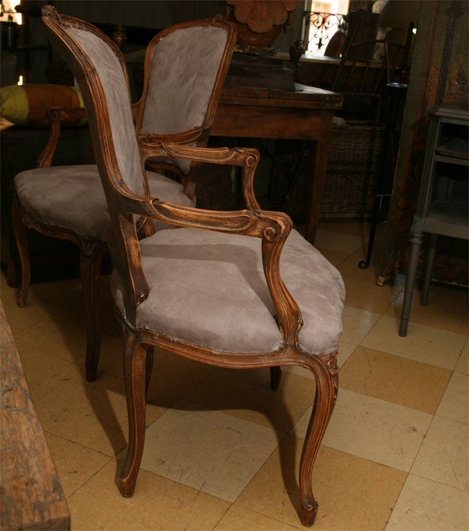 Pair of Louis XV Style fauteuil 3