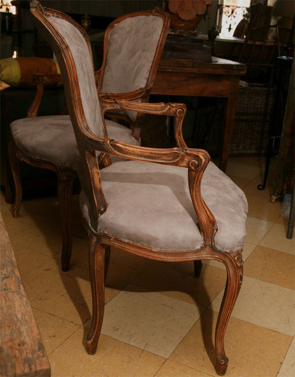 Pair of Louis XV Style fauteuil 4