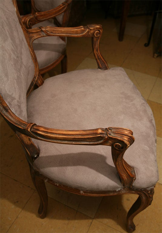 Pair of Louis XV Style fauteuil 5
