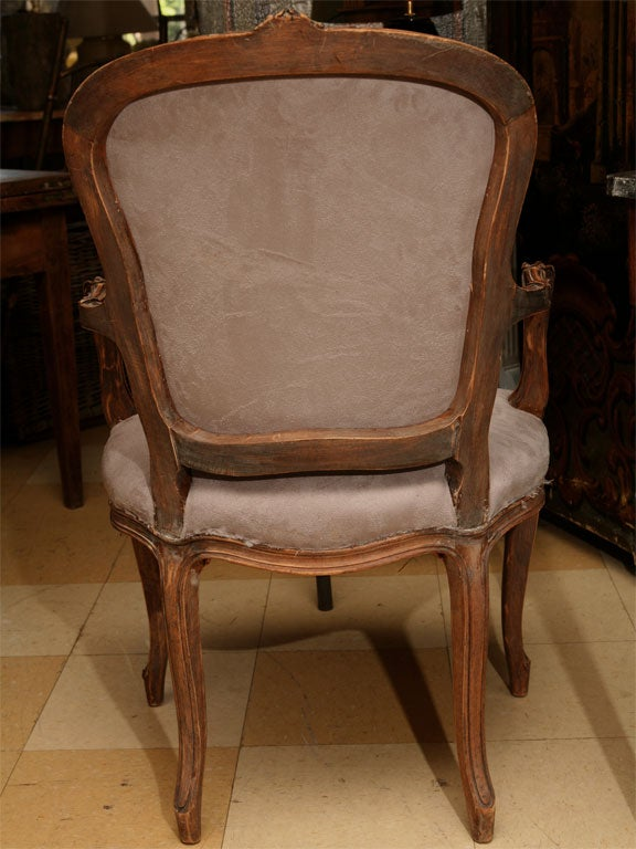 Pair of Louis XV Style fauteuil 6