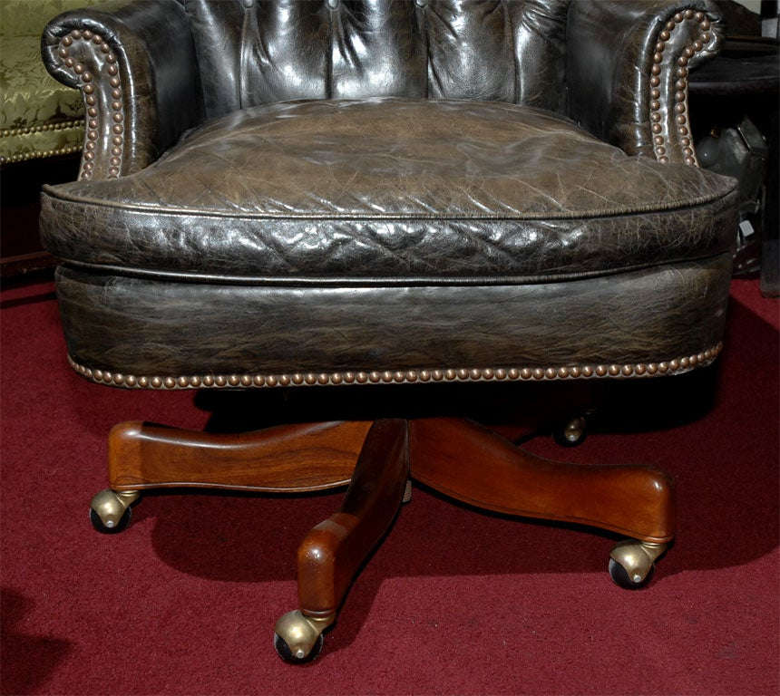 vintage leather desk chair at 1stdibs