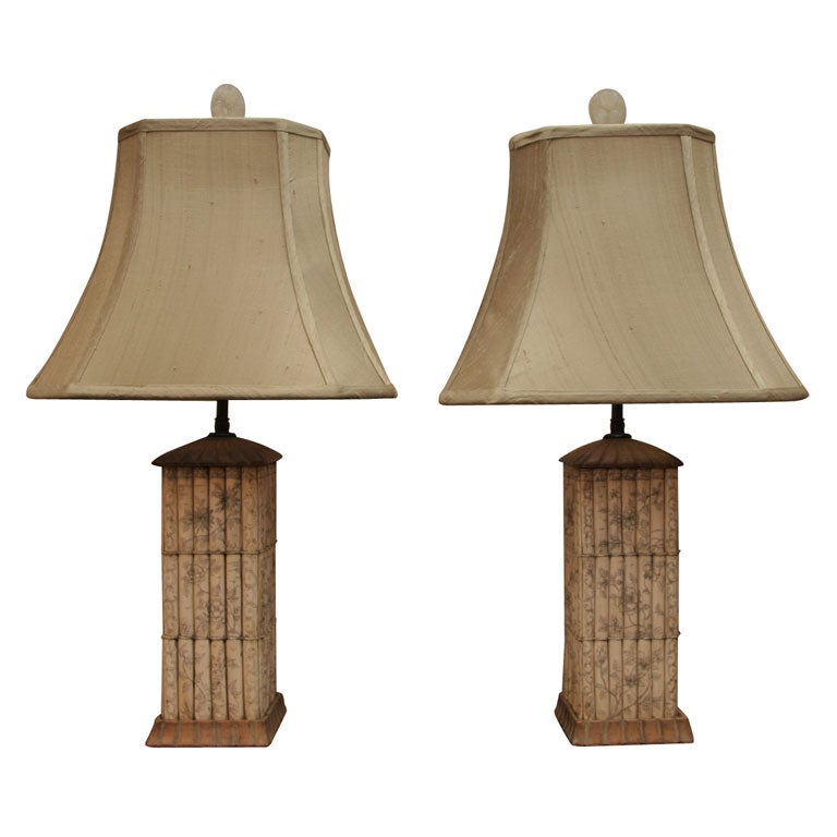 Pair Of Ivory Lamps At 1stdibs