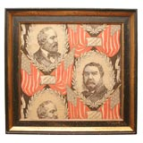 Political Textile.  James Garfield and Chester Arthur.