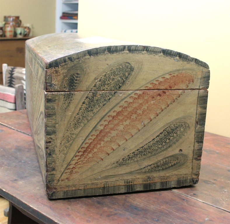American Painted Dome Top Box For Sale