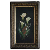 19TH C. VICTORIAN FLORAL PAINTING
