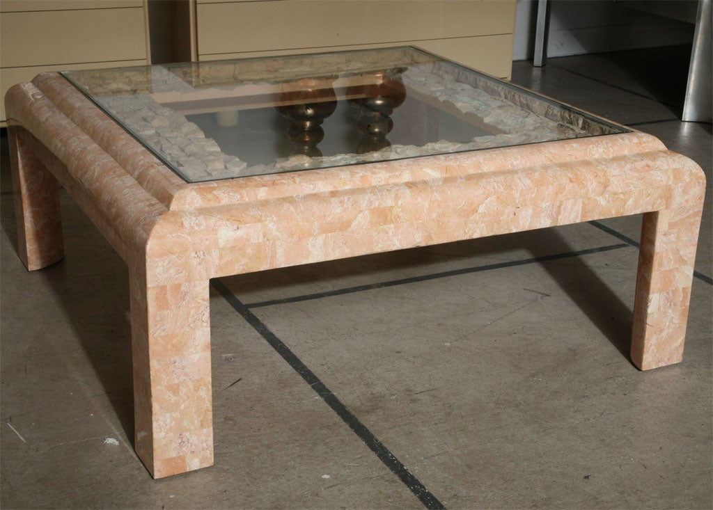 Maitland smith fossil stone coffee table at 1stdibs for Fossil coffee table