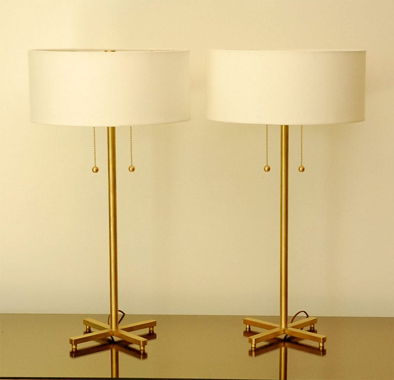 brass touch table lamps uk antique lamp with black shade pair of