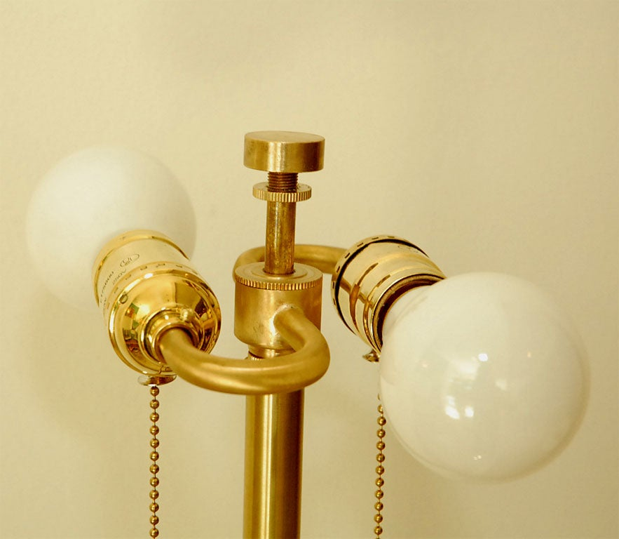 Pair Of Brass Table Lamps 4
