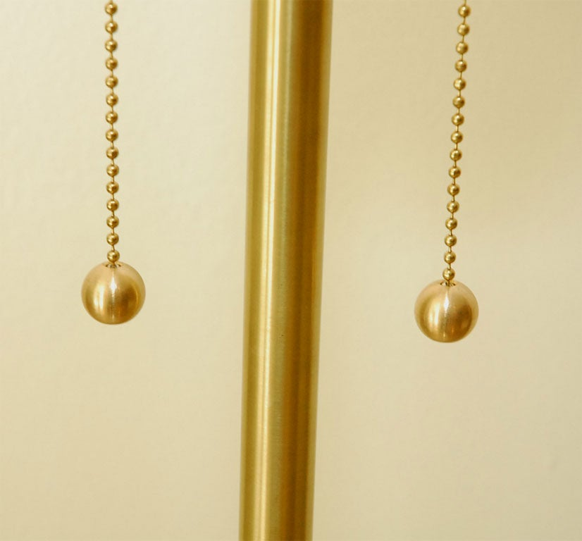 Pair Of Brass Table Lamps 7