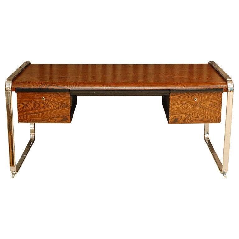 Exotic Wood Desk For Herman Miller At 1stdibs