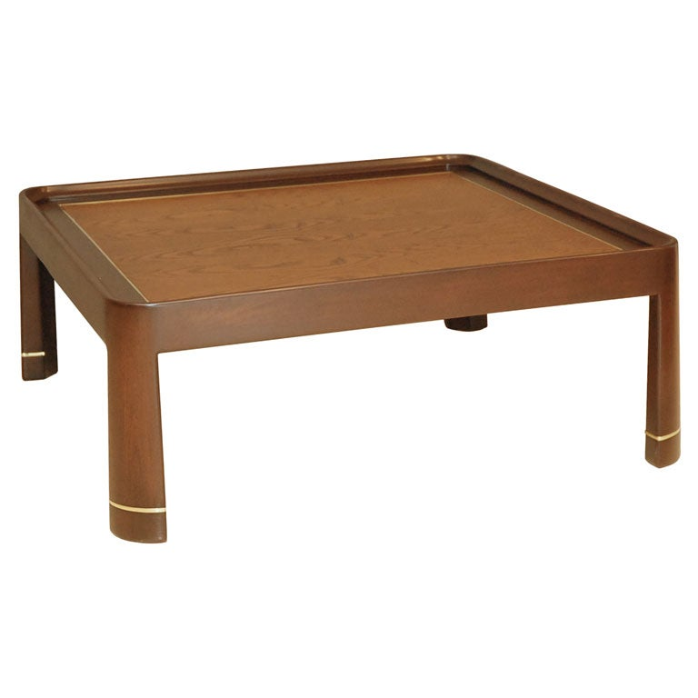 Harvey Probber Style Mahogany And Oak Coffee Table At 1stdibs