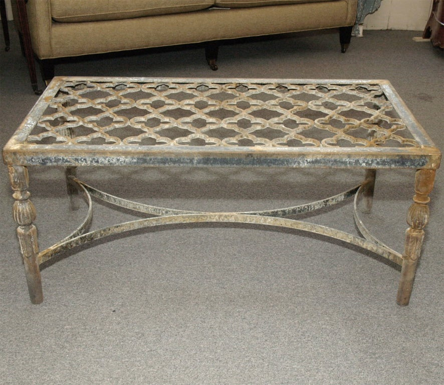 Fabricated Steel Coffee Table: Cast Iron Quatrefoil Coffee Table At 1stdibs