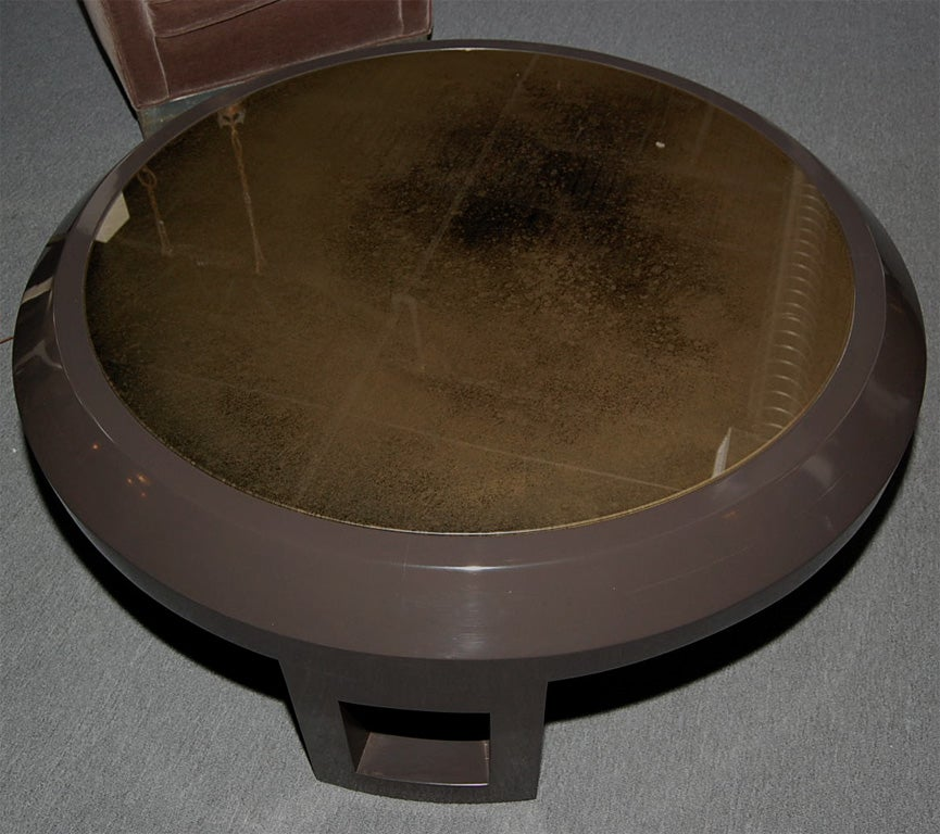 Large Bevelled Coffee Table With Bronze Mirrored Glass At 1stdibs