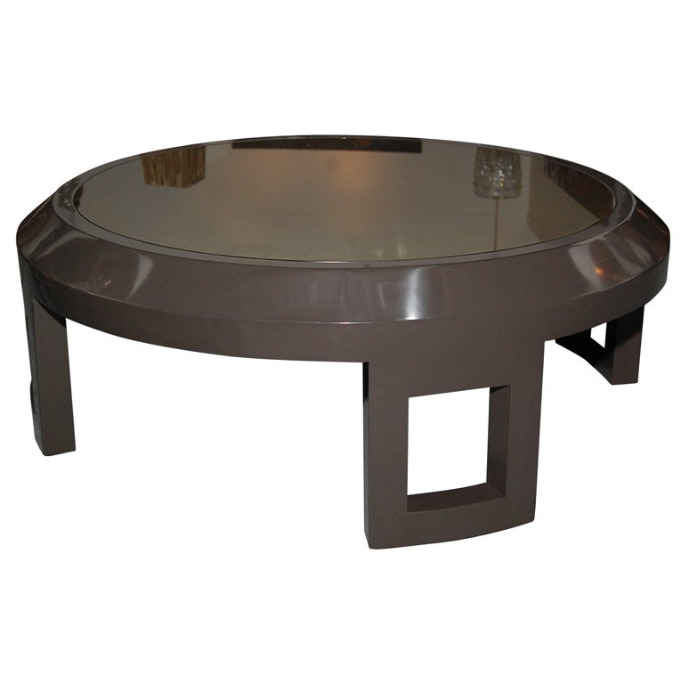 large bevelled coffee table with bronze mirrored glass at 1stdibs. Black Bedroom Furniture Sets. Home Design Ideas