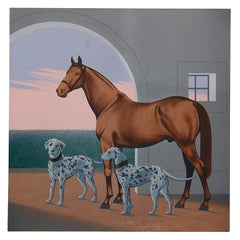 Horse and Dalmations by Lynn Curlee