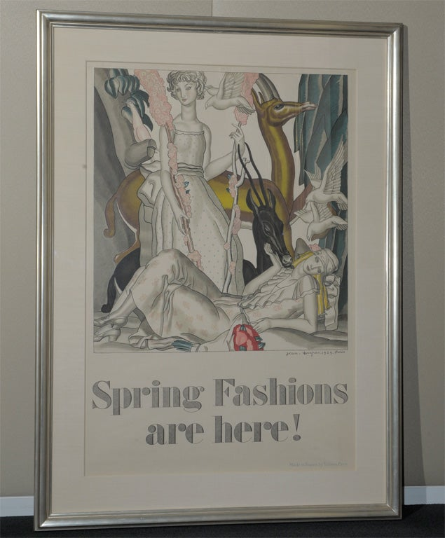 fashions are here original deco poster by dupas for sale at 1stdibs