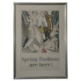 'Spring Fashions Are Here!' Original Art Deco Poster by Dupas