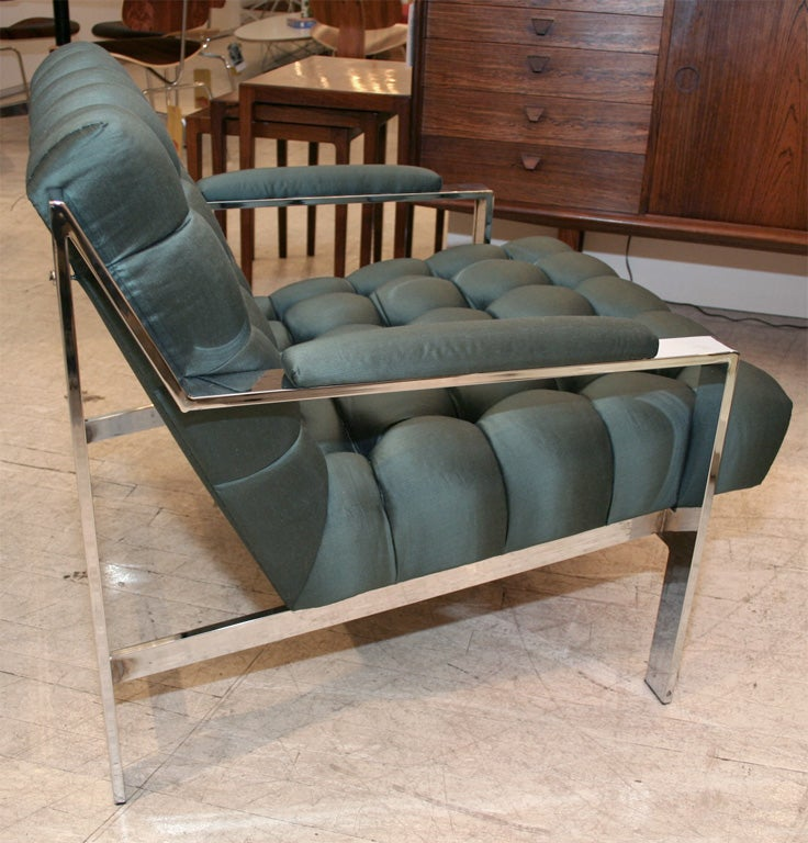American Pair of Lounge Chairs by Cy Mann For Sale