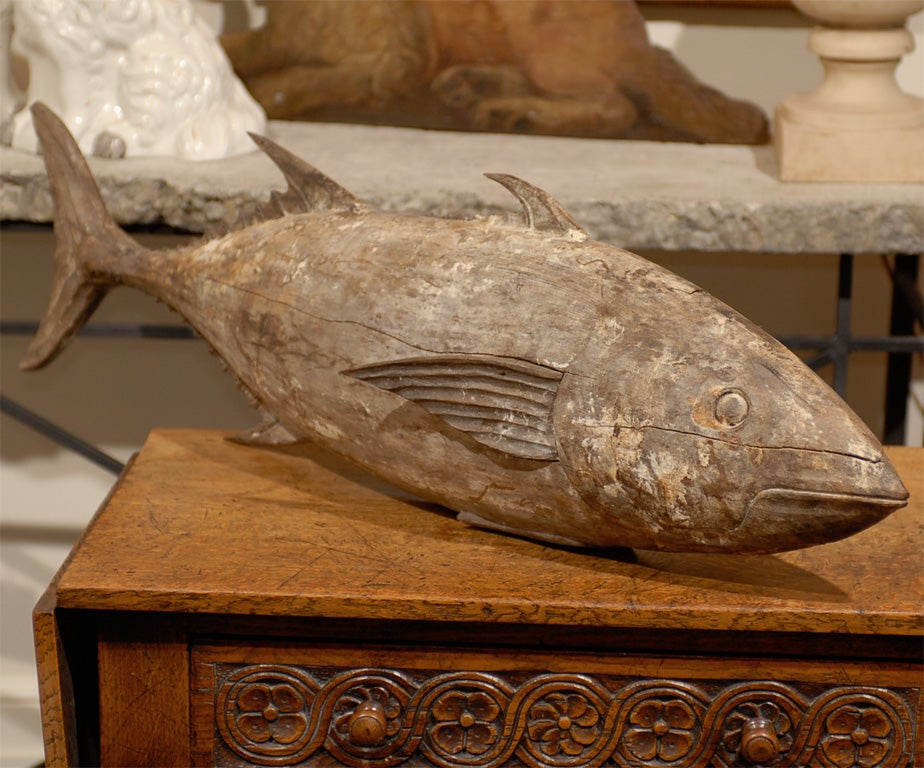 Large wooden fish at stdibs