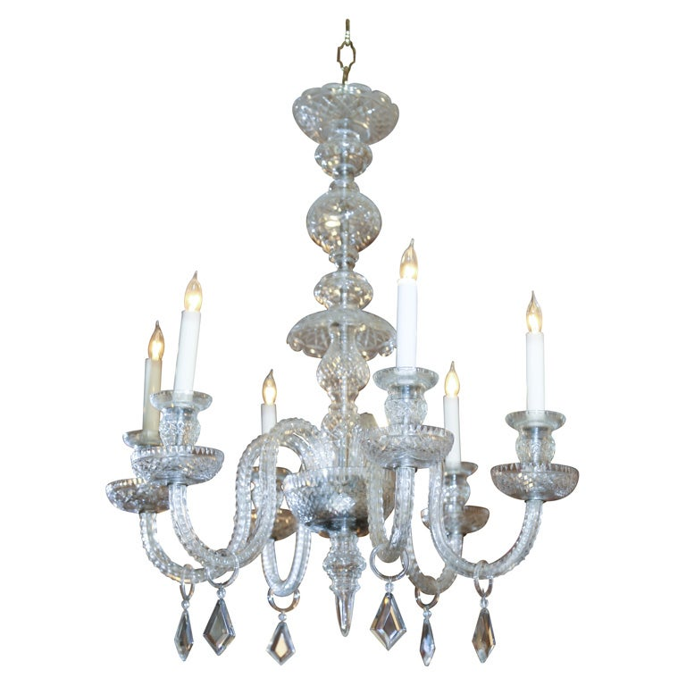 Georgian Chandelier: GEORGIAN STYLE CUT CRYSTAL 6 LIGHT CHANDELIER At 1stdibs