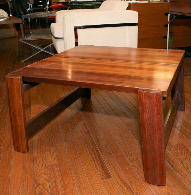 French Solid Mahogany Coffee Table For Sale