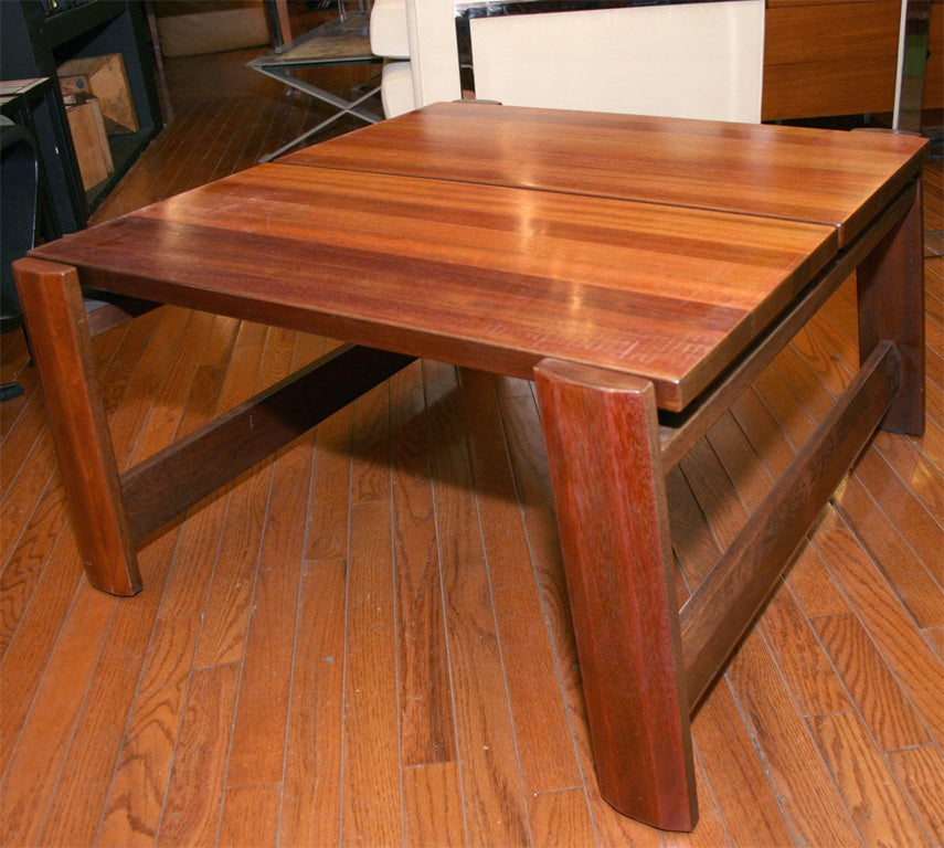 20th Century Solid Mahogany Coffee Table For Sale