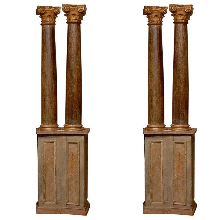 Pair of 18th Century Italian  Architectural Columns