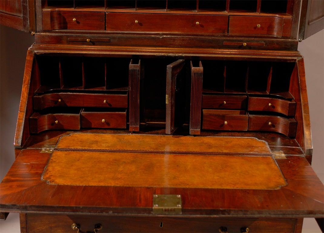 18th century English Bureau Bookcase in Mahogany, ca. 1760 6