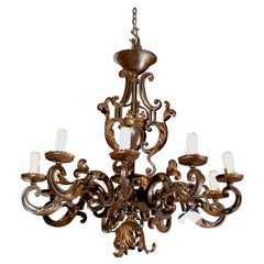 Antique Iron Chandelier