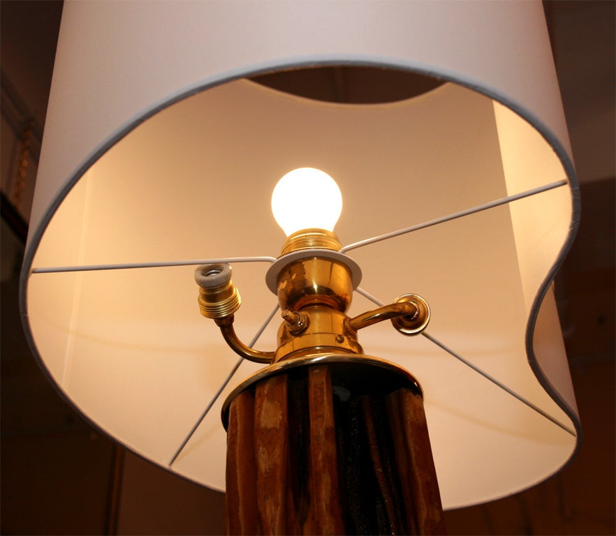 Floor lamp by Jacques Adnet 2