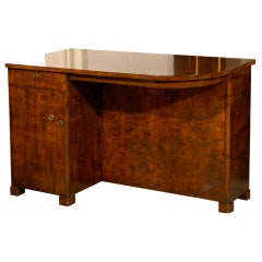 Swedish Art Deco Moderne Streamlined Writing Desk