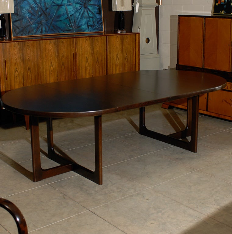 this swedish mid century modern round extension dining table is no