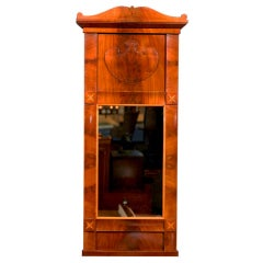 Swedish Karl Johan, Biedermeier Crotch Mahogany Mirror