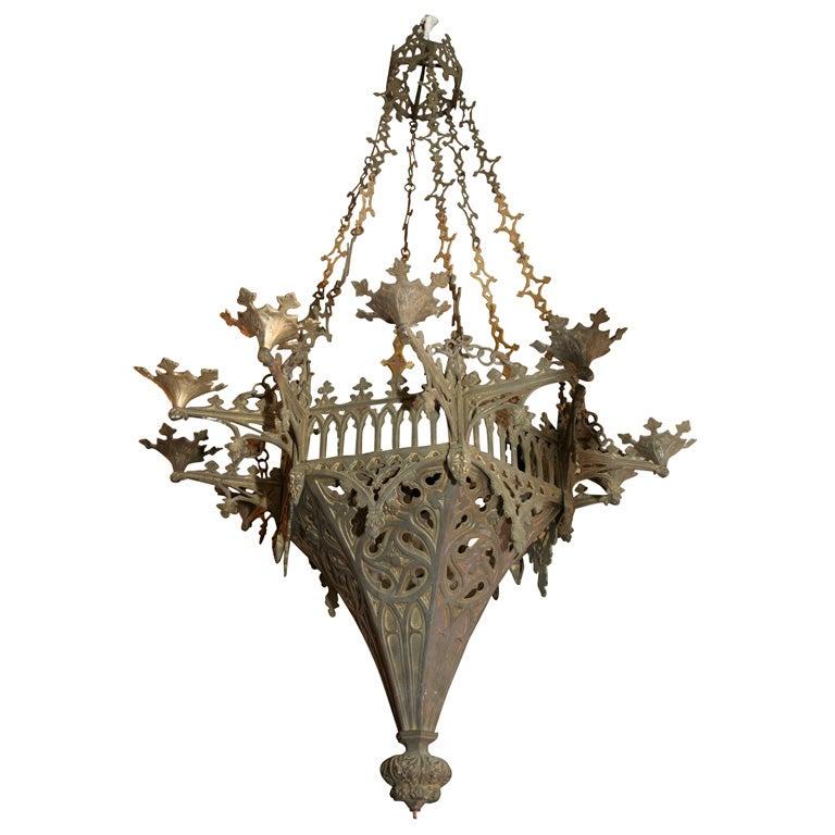 gothic style bronze chandelier at 1stdibs