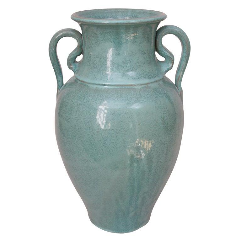 north carolina turquoise floor vase with variegated drip gla