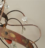 Crystal, Painted Iron Chandelier image 2
