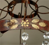 Crystal, Painted Iron Chandelier image 3