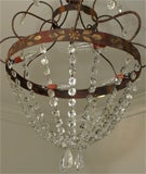 Crystal, Painted Iron Chandelier image 4
