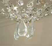 Crystal, Painted Iron Chandelier image 5